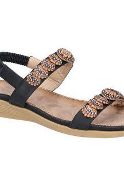 fleet  foster sandalen »damen java« zwart