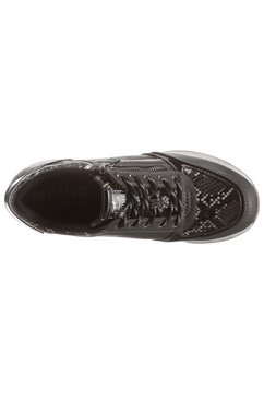 mustang shoes sneakers met sleehak grijs