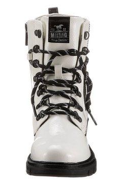 mustang shoes hoge veterschoenen wit