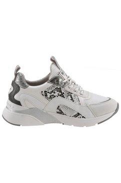 mustang shoes sneakers met sleehak wit