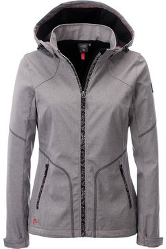 deproc active softshell-jack »south twin peak women« grijs