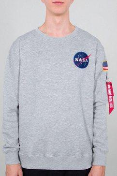 alpha industries sweatshirt »space shuttle« grijs