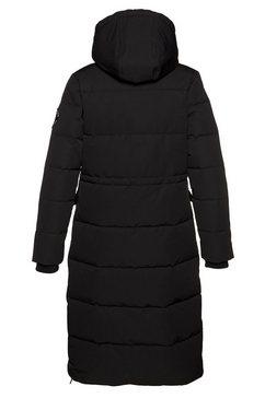 superdry lang jack »longline everest coat« zwart