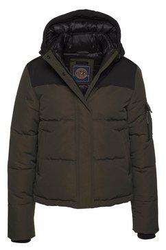 superdry winterjack »quilted everest jacket« groen