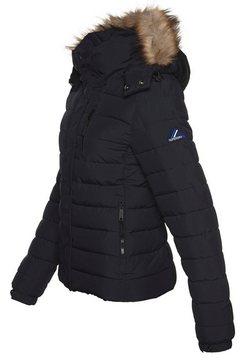 superdry gewatteerde jas »classic faux fur fuji jacket« blau