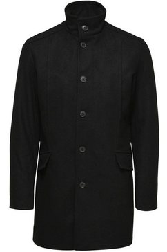 selected homme wollen jas »morrison wool coat« zwart