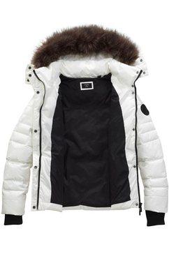 superdry gewatteerde jas »glacier padded jacket« wit
