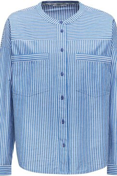edc by esprit klassieke blouse blauw