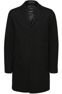 selected homme wollen jas »hagen wool coat« zwart
