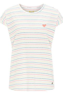 mustang t-shirt »audrey c striped« wit