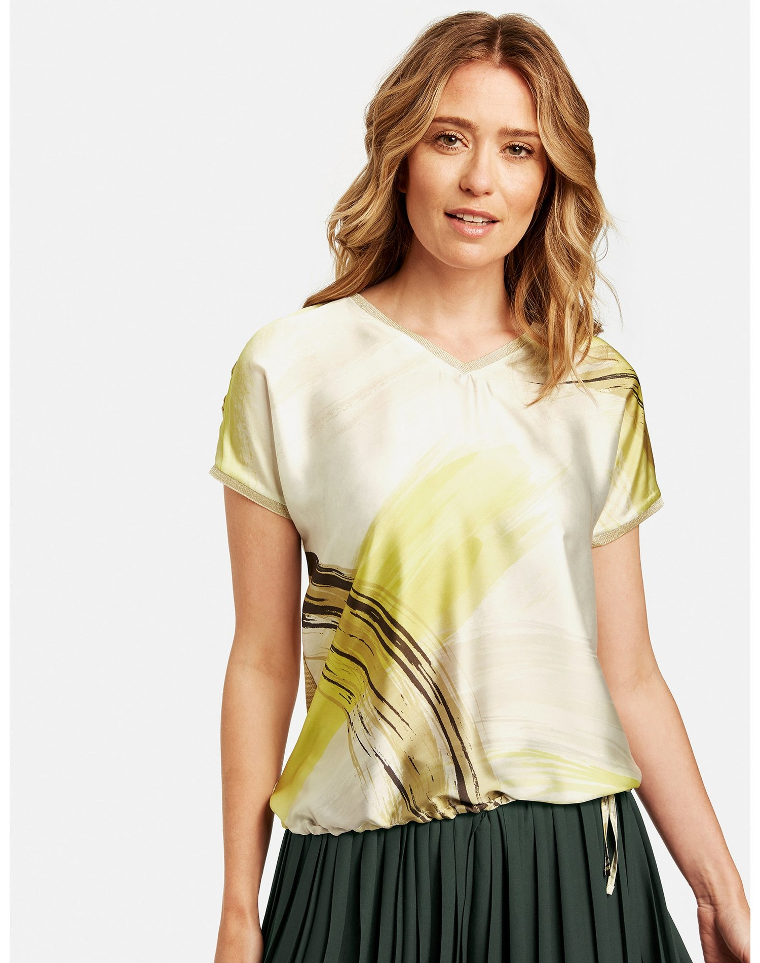Gerry Weber t-shirt met korte mouwen »Shirt mit Materialmix« - verschillende betaalmethodes