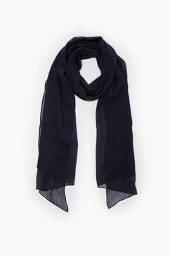 s.oliver gestreepte geweven sjaal blauw