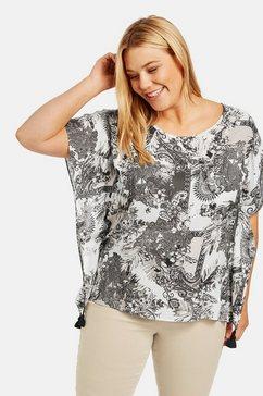 samoon blouse in laagjeslook »blusenponcho mit quasten«
