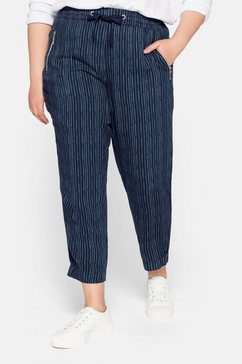sheego comfortbroek blauw