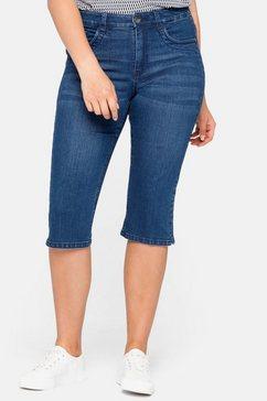 sheego capri jeans blauw