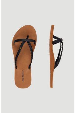 o'neill teenslippers »ditsy elite sandalen« zwart