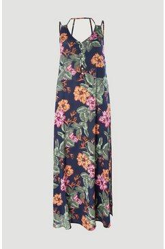 o'neill maxi-jurk »belinda all over print long dress« blauw
