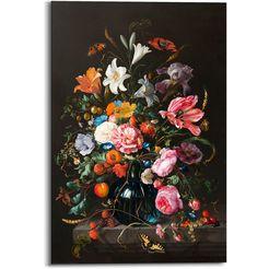 reinders! artprint op hout stilleven bloemen in vaas jan davidsz de heem (1 stuk) multicolor