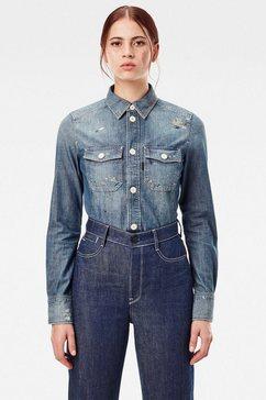 g-star raw jeansblouse »kick back worker hemd« blauw
