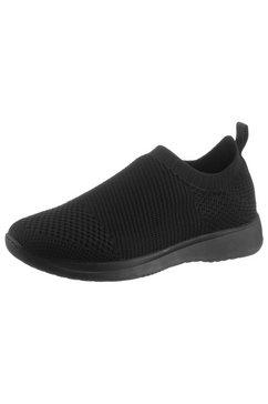 vagabond slip-on sneakers cintia in tricot-look zwart