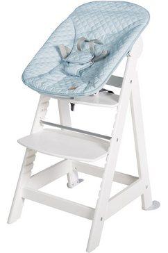 roba kinderstoel treppenhochstuhl 2-in-1 set style, born up met pasgeboren gehechtheid wit
