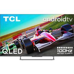 "tcl qled-tv 55c728x1, 139,7 cm - 55 "", 4k ultra hd, smart-tv   android tv, android 11, onkyo-geluidssysteem, gaming tv zwart"