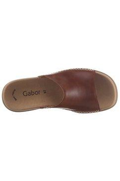 gabor slippers met perfecte pasvorm bruin