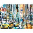 artland artprint new york new york city - skyline collage 11 in vele afmetingen  productsoorten -artprint op linnen, poster, muursticker - wandfolie ook geschikt voor de badkamer (1 stuk) blauw