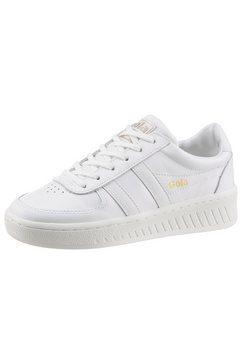 gola classic sneakers grandslam leather in eenkleurige look wit