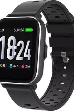 denver »sw-163« smartwatch zwart