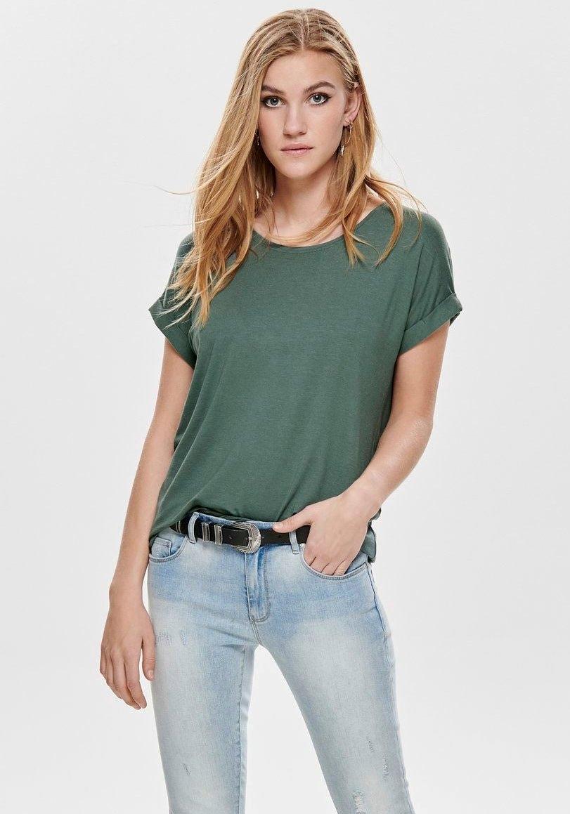 Only T-shirt ONLMOSTER met omslag aan de mouwen nu online kopen bij OTTO