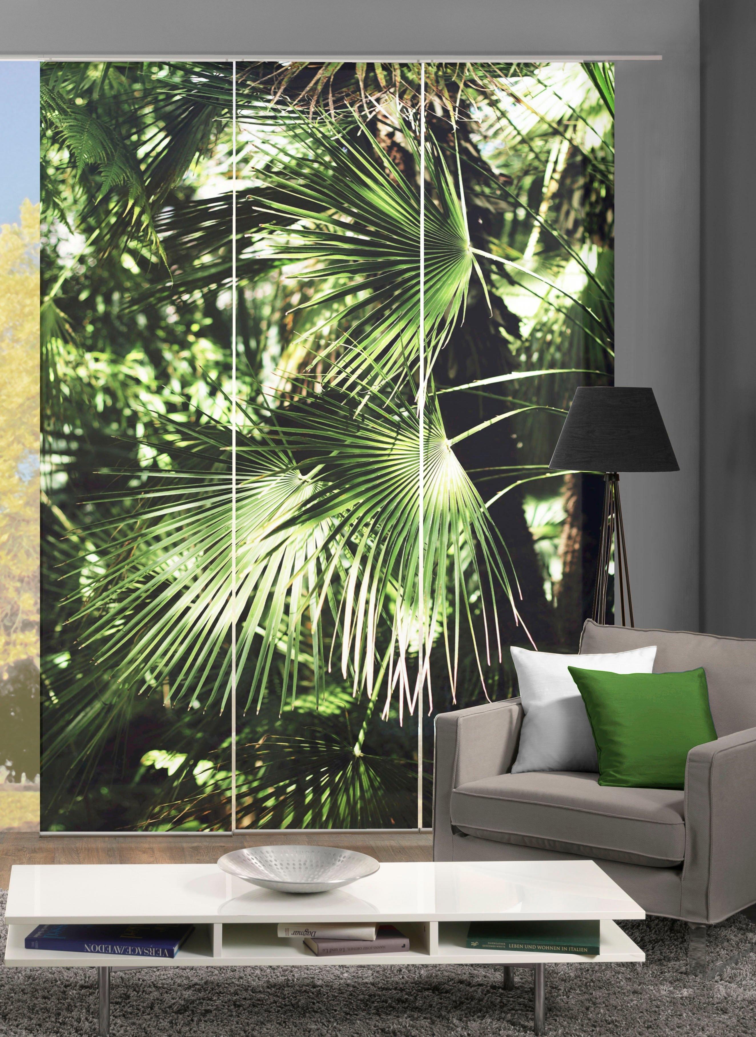 Vision Paneelgordijn JUNGOLA set van 3 Bamboe-look, digitaal bedrukt (3 stuks) bij OTTO online kopen
