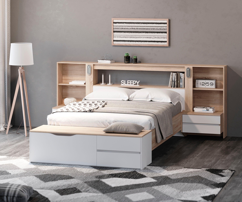 DELAVITA slaapkamerserie ADOUR met achtergrondverlichting - verschillende betaalmethodes