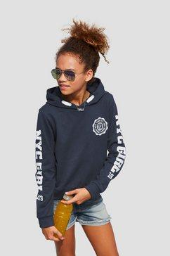 arizona hoodie in kort model blauw