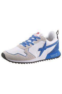 w6yz sneakers jet m in de materiaalmix wit