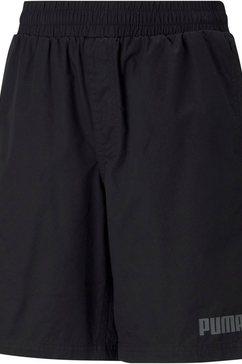 puma short ess+ woven shorts b zwart