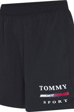 tommy sport trainingsshort »graphic woven short 7« blauw