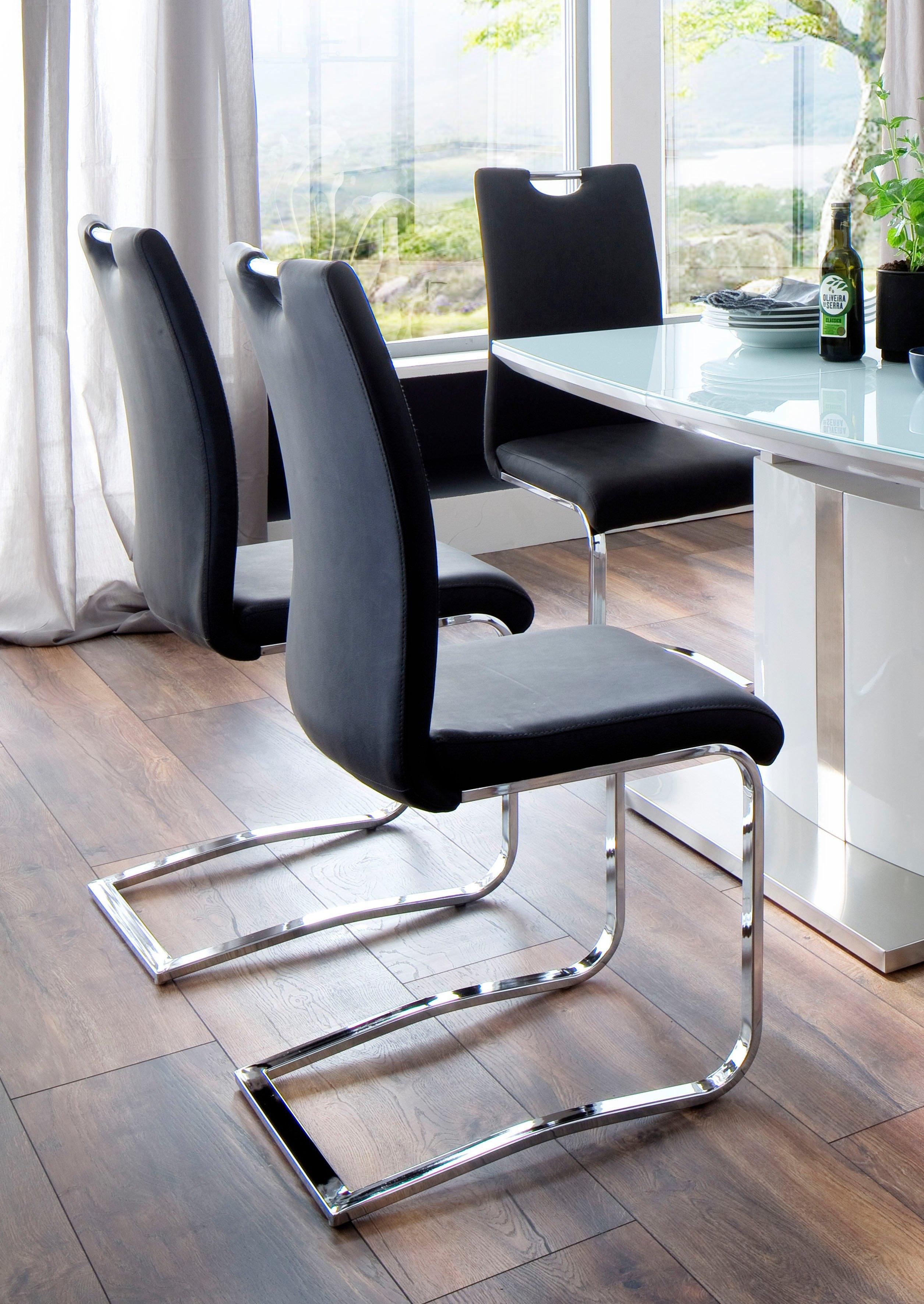 MCA furniture Eetkamerstoel Tia sledestoel Stoel belastbaar tot max. 120 kg (set, 4 stuks) voordelig en veilig online kopen