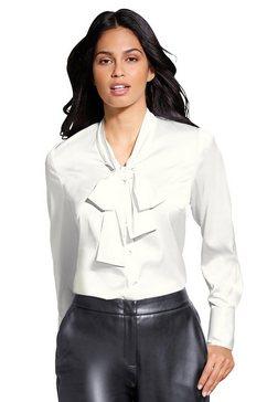 lady blouse met kraagstrik beige