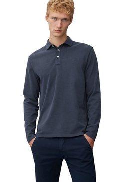 marc o'polo shirt met lange mouwen met een polokraag blauw