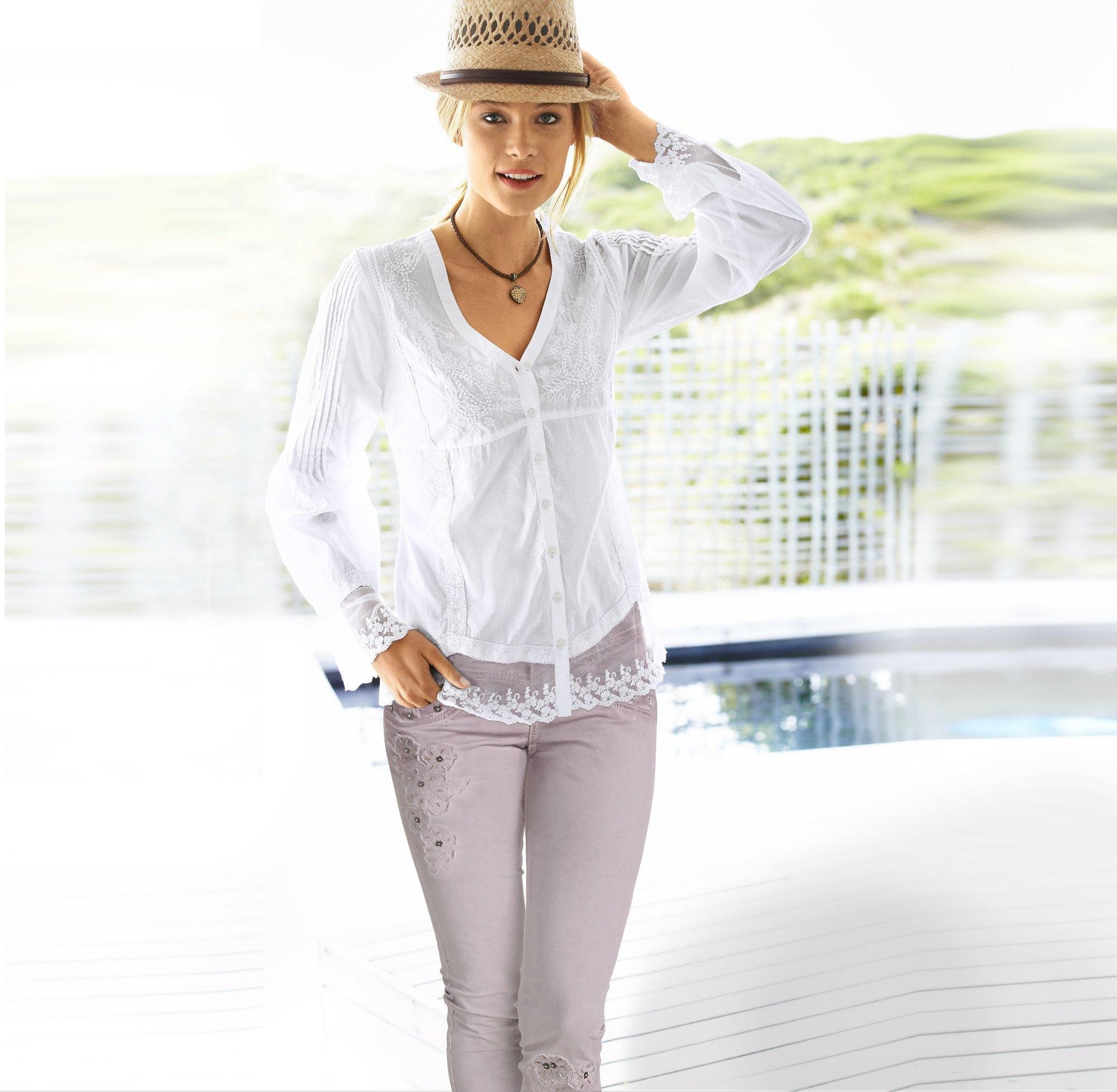 LINEA TESINI by Heine kanten blouse bij OTTO online kopen