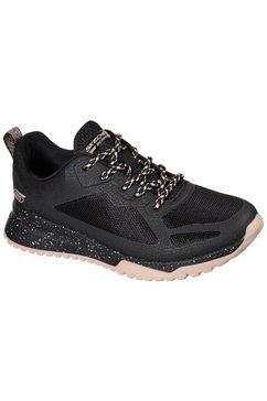skechers sneakers bobs squad 3 met tweekleurige loopzool zwart