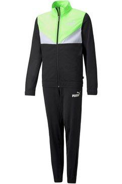 puma trainingspak colorblock poly suit zwart