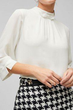 s.oliver black label blouse zonder sluiting met bijzondere staande kraag wit
