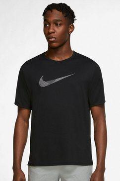 nike runningshirt dri-fit run division miler mens short-sleeves zwart