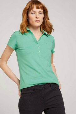tom tailor poloshirt met kleine logoprint groen