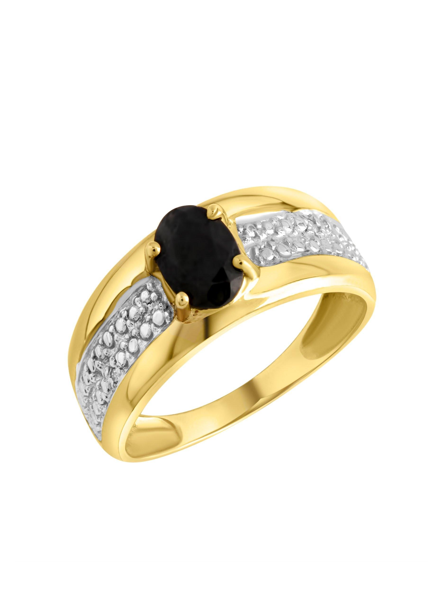 Firetti gouden ring In bicolour-look met saffier nu online bestellen