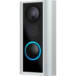 ring smart home-deurbel »doorview cam« buiten, binnen zwart