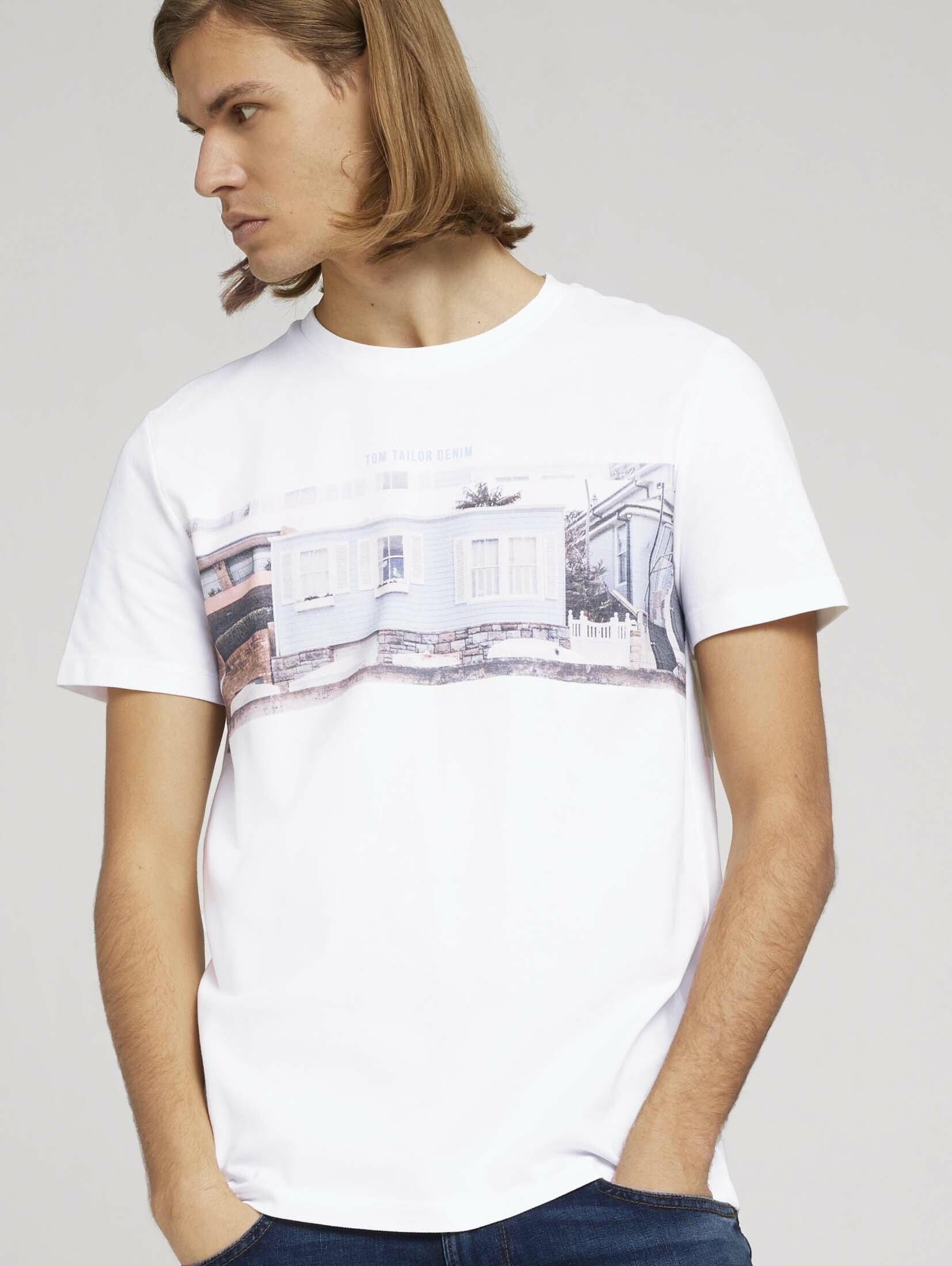 Tom Tailor Denim T-shirt »T-Shirt mit Fotoprint« voordelig en veilig online kopen