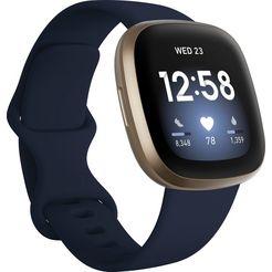 fitbit »versa 3« smartwatch goud